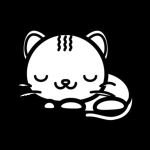 眠ってる猫のイラスト