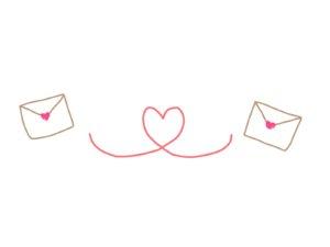 メール交換のイラスト